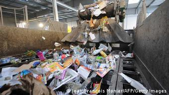 A picture shows garbage in the recycling plant of waste, ValorPôle 72, on April 12, 2013 in Le Mans, western France. (Photo: JEAN-FRANCOIS MONIER/AFP/Getty Images)
