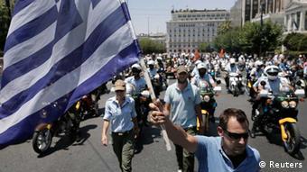 A rally in Greece REUTERS/John Kolesidis (GREECE - )