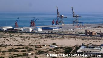 This photograph taken on February 12, 2013 shows the construction site at Gwadar port in the Arabian Sea. China's acquisition of a strategic port in Pakistan is the latest addition to its drive to secure energy and maritime routes and gives it a potential naval base in the Arabian Sea, unsettling India. (Photo: AFP)