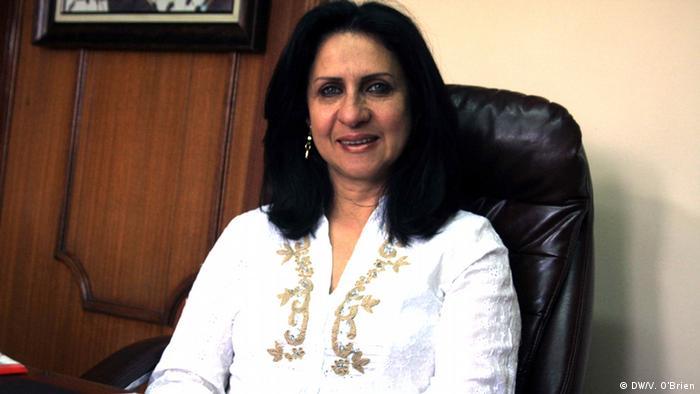 Vera Baboun at her desk