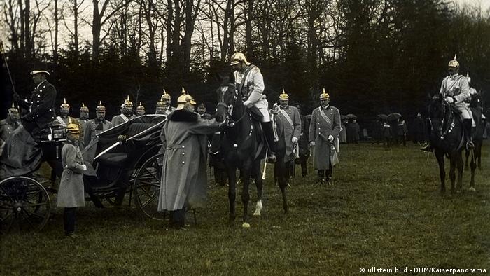 Прибытие императора Вильгельма II на празднование 80-летия Отто фон Бисмарка в 1895 году