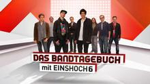 Logo des Bandtagebuch mit der Band EINSHOCH6