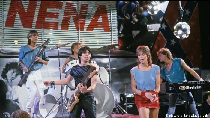 Nena with her band in the 1980s