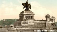 Deutschland Geschichte Koblenz Kaiser-Wilhelm-Denkmal am Deutschen Eck