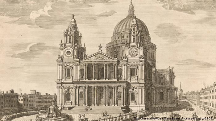 St. Paul's Cathedral in London, 1747, Copyright: Mary Evans Picture Library