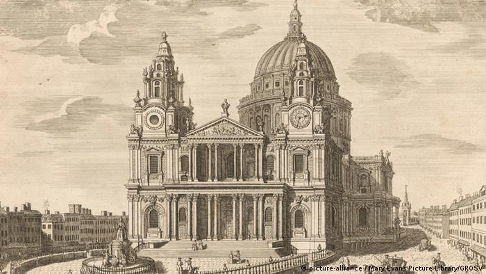 Blick auf die St. Paul's Kathedrale in London im 18. Jahrhundert