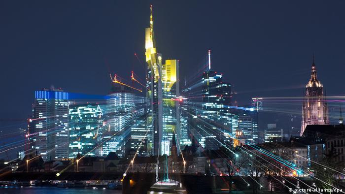 Bankentürme der Skyline von Frankfurt