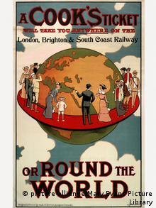 Großbritannien Reisen Tourismus Reiseplakat von Thomas Cook Reiseveranstalter