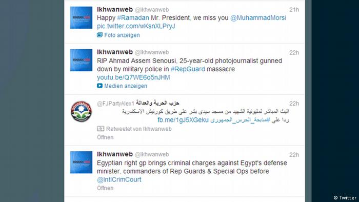 Screenshot of @Ikhwanweb Twitter feed