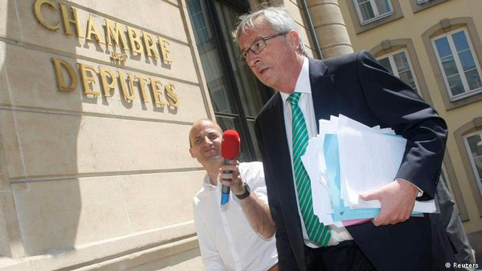 Jean-Claude Juncker vor dem Parlament in Luxemburg (Foto: Reuters)