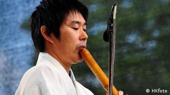Der japanische Flötenspieler Koushi Tsukuda Foto: Horst Krauth