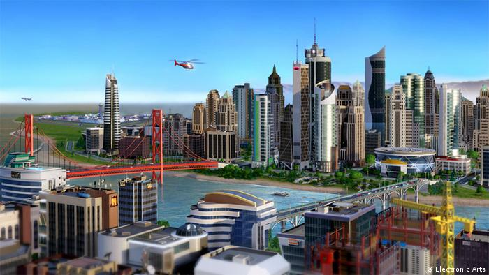 City panorama, Computer game SimCity Copyright: Electronic Arts