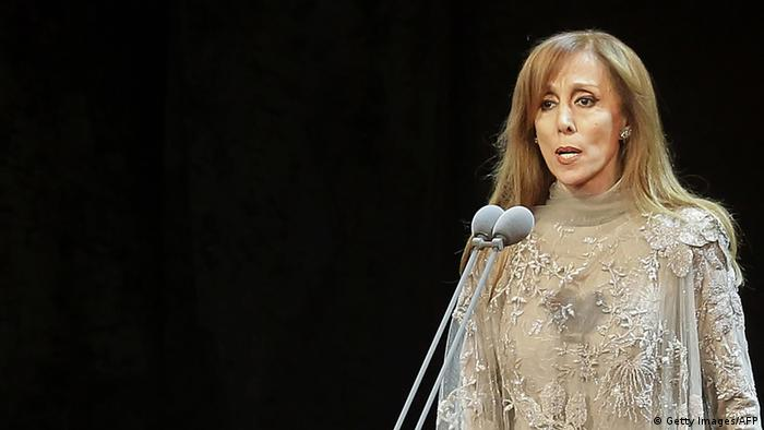 Lebanese diva Fairuz performs during a rare concert in Beirut on October 7, 2010. AFP PHOTO/JOSEPH EID (Photo credit should read JOSEPH EID/AFP/Getty Images)