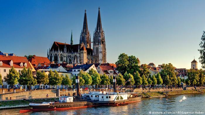 Набережная Дуная в Регенсбурге