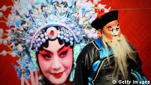 BEIJING - FEBRUARY 02: Chinese folk artists performs Beijing opera at a temple fair to celebrate the Lunar New Year of Rabbit on February 2, 2011 in Beijing, China. Chinese people celebrate the Lunar New Year of Rabbit, which will fall on February 3, 2011. The Chinese Lunar New Year also known as the Spring Festival, which is based on the Lunisolar Chinese calendar, is celebrated from the first day of the first month of the lunar year and ends with Lantern Festival on the Fifteenth day. (Photo by Feng Li/Getty Images)