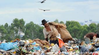 Depósito de basura en Brasil.