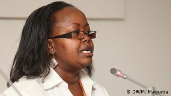 Grace Githaiga (Researcher with the Media, Empowerment and Democracy in East Afri (Photo: M. Maguina / DW)
