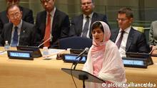 Malala Yousafzai spricht vor der UN