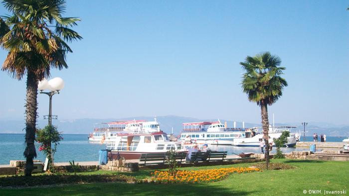 Schiffe in Ohrid Mazedonien