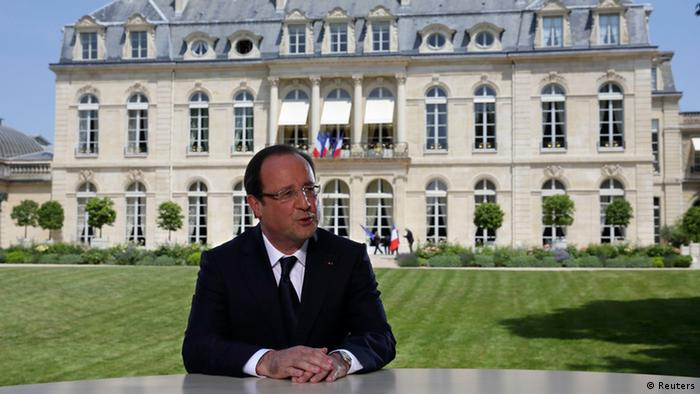 Fernsehinterview von Francois Hollande (Foto: Reuters)