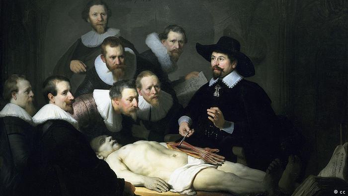Урок анатомии доктора Тульпа. Картина Рембрандта, 1632 год. Королевская галерея в Гааге
