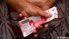 Indonesien Wirtschaft Banknoten Geldscheine