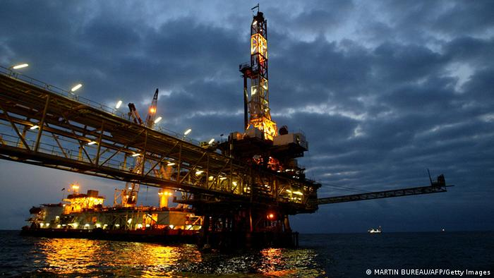An oil rig in Angola.