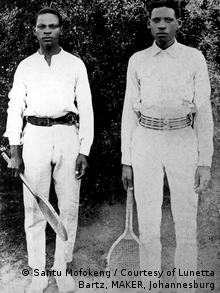 Moeti and Lazarus Fume pictured by an unknown photographer in Santu Mofokeng's Black Photo Album.