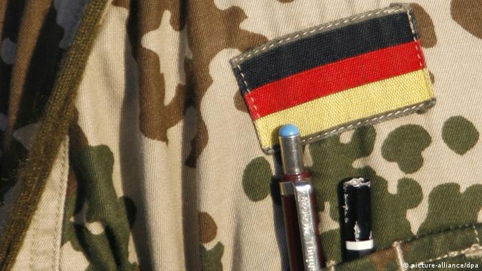 Флаг Германии на униформе служащего бундесвера
