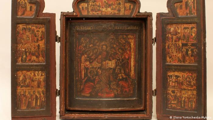 Складень Дванадесяті свята повернувся з Німеччини до Національного Києво-Печерського історико-культурного заповідника