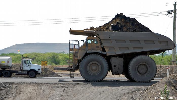 Mina de carbón en Colombia.