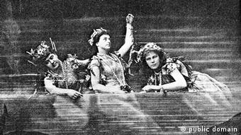 The Rhinemaidens in the first Bayreuth production of Wagner's Ring cycle in 1876