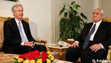 Egypt's interim President Adli Mansour (R) meets with U.S. Deputy Secretary of State William Burns at El-Thadiya presidential palace in Cairo, July 15, 2013. Burns, the first senior U.S. official to visit Egypt since the army toppled its elected president meets officials on Monday to urge them to swiftly restore democracy, while thousands of supporters of the ousted Islamist leader take to the streets. REUTERS/Amr Abdallah Dalsh (EGYPT - Tags: POLITICS)