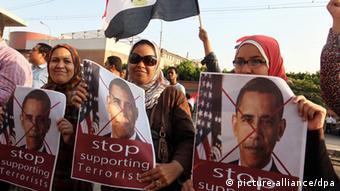 Proteste gegen Barack Obama in Kairo Ägypten