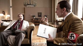 Szene aus dem Film 'George' von Regisseur Joachim A. Lang mit Götz George und Martin Wuttke (Foto: SWR/Thomas Kost)