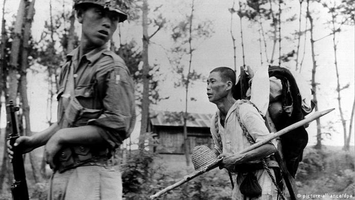 Korea Krieg Bauer flüchtet in den Süden