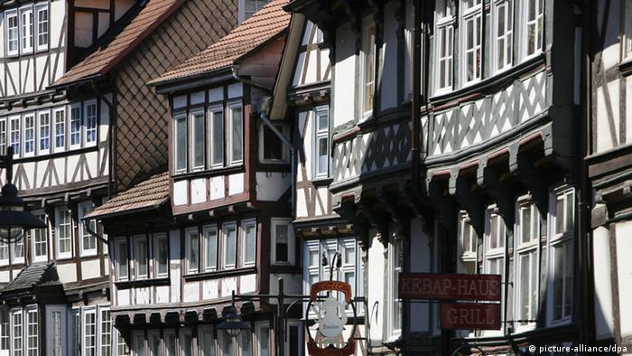 Casas do centro histórico de Hannoversch Münden
