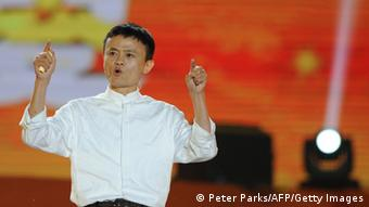 This photo taken on May 10, 2013 shows Alibaba founder Jack Ma speaking at an event to mark the 10th anniversary of China's most popular online shopping destination Taobao Marketplace, in the eastern Chinese city of Hangzhou. Alibaba chief Jack Ma stepped down on May 10 before a potential initial public offering as the Chinese online retail giant announced a 294 million USD stake purchase in digital mapping firm AutoNavi. AFP PHOTO / Peter PARKS (Photo credit should read PETER PARKS/AFP/Getty Images)