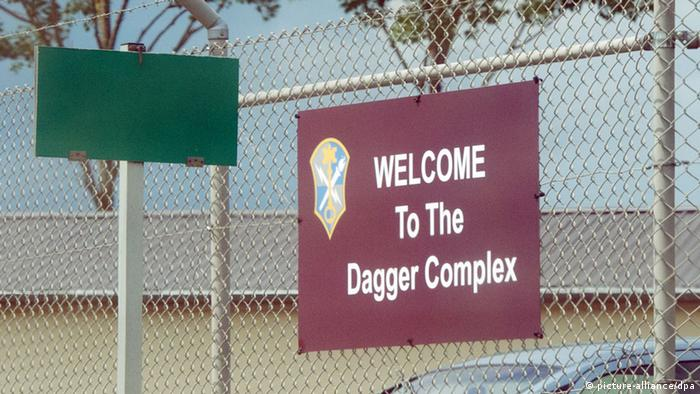 The Dagger Complex in Griesheim, Germany was the site of a protest walk.