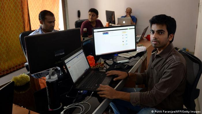 Modernes Indien, IT Technologie (Punit Paranjpe/AFP/Getty Images)