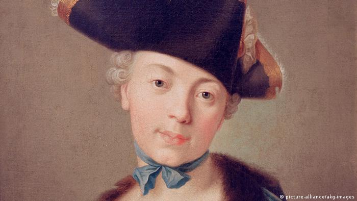 Екатерина Вторая в молодости