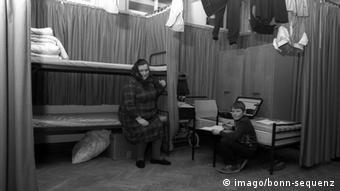 В лагере для немцев-переселенцев