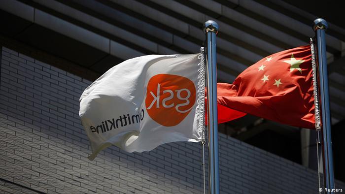 China Wirtschaft GlaxoSmithKline Logo in Schanghai Flagge (Reuters)