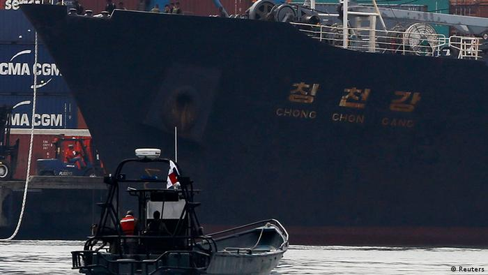 North Korean container ship ''Chong Chon Gang'' docks at the Manzanillo International Container Terminal in Colon City July 16, 2013. (Photo: Reuters)