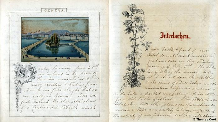 diary of Jemima Morrell, two pages