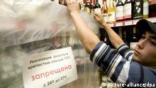 Spätverkauf Alkohol Russland