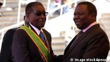 Bildnummer: 55272682 Datum: 18.04.2011 Copyright: imago/Xinhua (110418) -- HARARE, April 18, 2011 (Xinhua) -- Zimbabwean president Robert Mugabe(L) greets Zimbabwean Prime Minister Morgan Tsvangirai (R) upon his arrival at the 31st Independence celebration in Harare on April 18, 2011. (Xinhua/Wan Da) (lj) ZIMBABWE-HARARE-INDEPENDENCE CELEBRATION PUBLICATIONxNOTxINxCHN Politik Gesellschaft Feiertag Unabhängigkeit Unabhängigkeitstag jahrestag kbdig xub 2011 quadrat premiumd o0 People Bildnummer 55272682 Date 18 04 2011 Copyright Imago XINHUA Harare April 18 2011 XINHUA Zimbabwean President Robert Mugabe l greets Zimbabwean Prime Ministers Morgan Tsvangirai r UPON His Arrival AT The 31st Independence Celebration in Harare ON April 18 2011 XINHUA Wan there LJ Zimbabwe Harare Independence Celebration PUBLICATIONxNOTxINxCHN politics Society Holiday Independence Independence Day Anniversary Kbdig 2011 Square premiumd o0 Celebrities