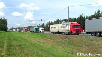 Таможенный контроль на границе Беларуси и России
