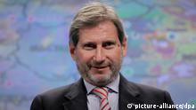 epa02487127 Johannes Hahn the European Commissioner for Regional Policy gives a news conference on presentation of EU strategy for the Danube region at the European commission headquarters in Brussels, Belgium 09 November 2010. early this week the European Commission adopted the EU Strategy for the Danube Region following a request from Member States. This is a comprehensive Strategy, covering several Community policies and targeting a 'macro-region'. The Strategy takes the form of a Communication and an Action Plan which will be reviewed regularly. Implementation of the Strategy will start following endorsement by Member States during the Hungarian Presidency of the EU in April 2011. EPA/OLIVIER HOSLET