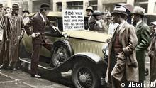 USA Wirtschaft Börsenkrach 1929 Börsenspekulant bietet Auto zum Verkauf an
